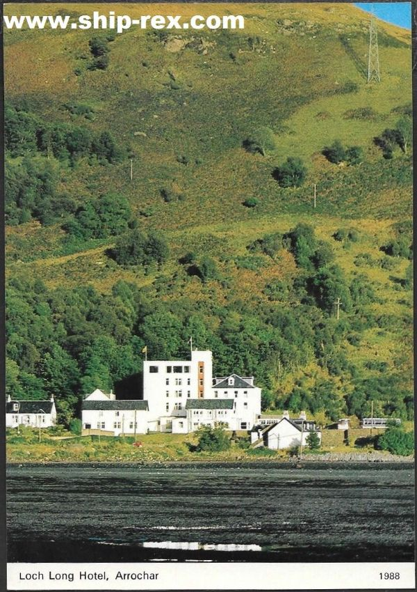Arrochar, Loch Long Hotel - postcard